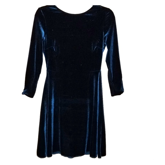 3a94d56d Zara Dresses | Basics Dark Bluegreen Velvet Dress Sz Xs | Poshmark